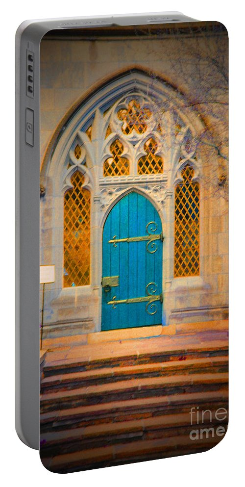 Washington Portable Battery Charger featuring the photograph The Blue Door by Jost Houk