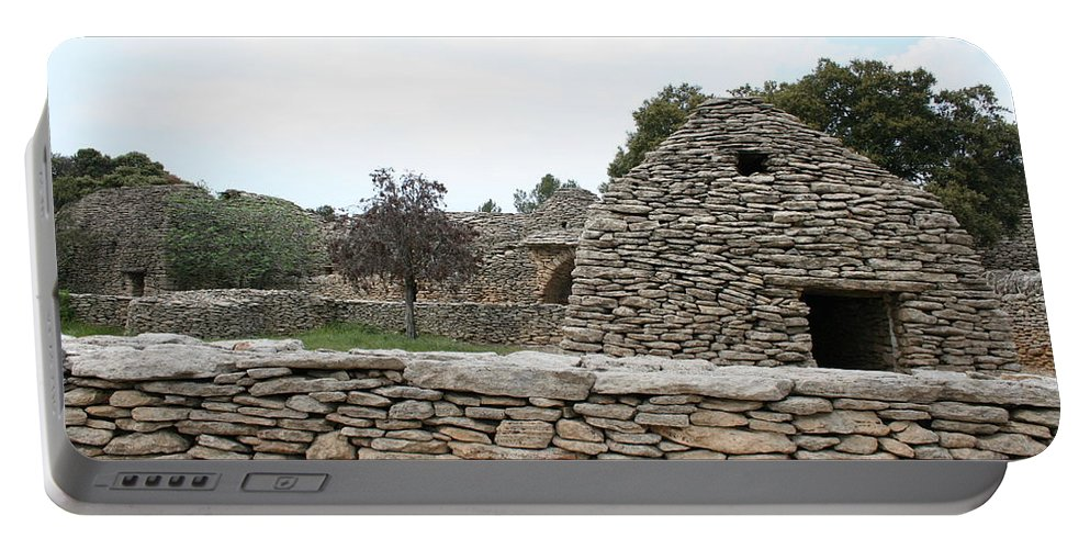 Village Portable Battery Charger featuring the photograph Bories Village - Luberon by Christiane Schulze Art And Photography