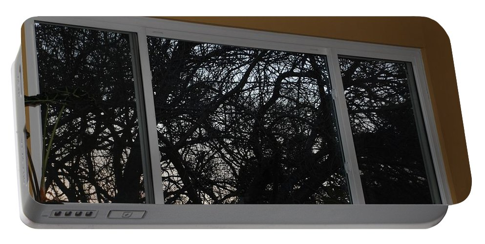 Window Portable Battery Charger featuring the photograph The Branch Window by Rob Hans