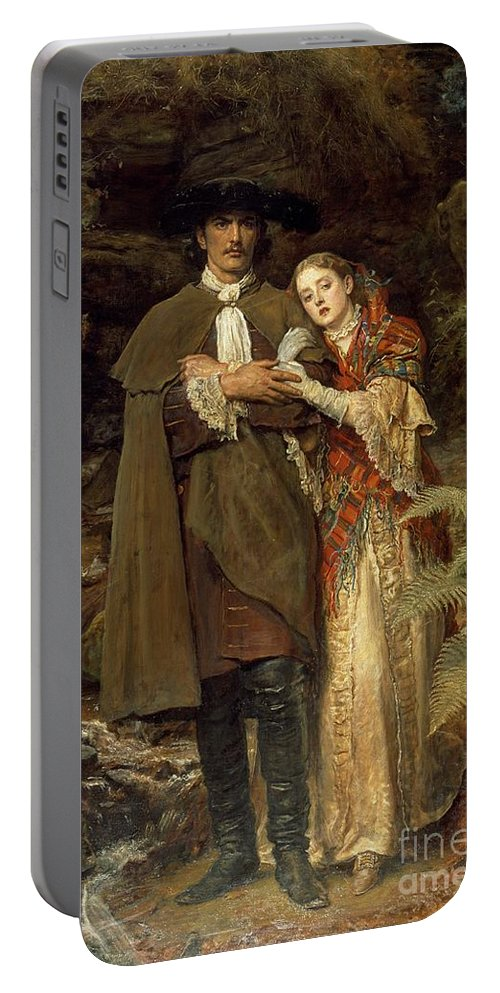 The Portable Battery Charger featuring the painting The Bride Of Lammermoor by Sir John Everett Millais