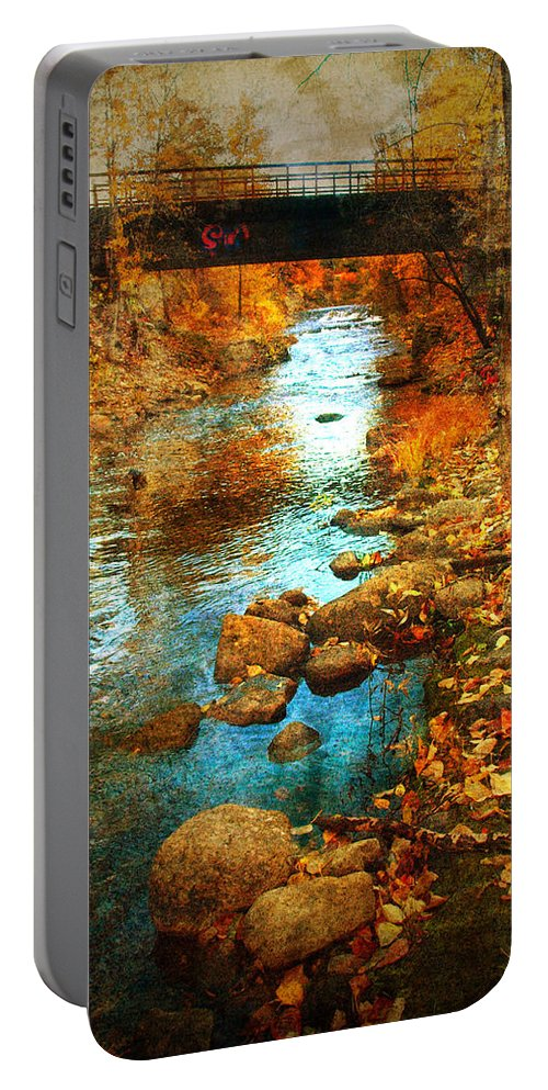Penticton Portable Battery Charger featuring the photograph The Bridge By Government Street by Tara Turner
