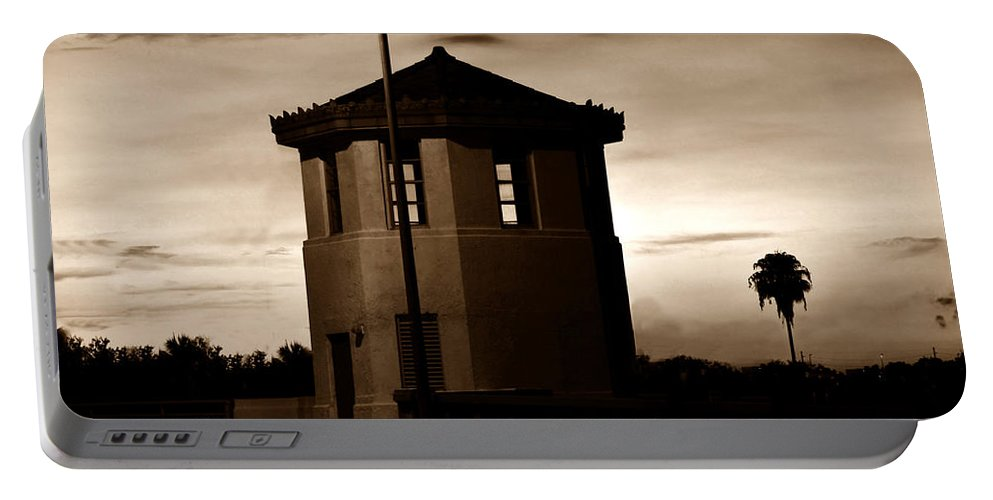 Fine Art Photography Portable Battery Charger featuring the photograph The Bridge Tenders Box Circa1926 by David Lee Thompson