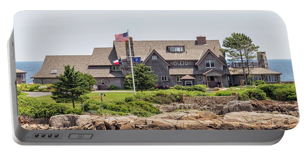 Walkers Point Kennebunkport Maine Portable Battery Charger featuring the photograph The Bush Compound Kennebunkport Maine by Brian MacLean