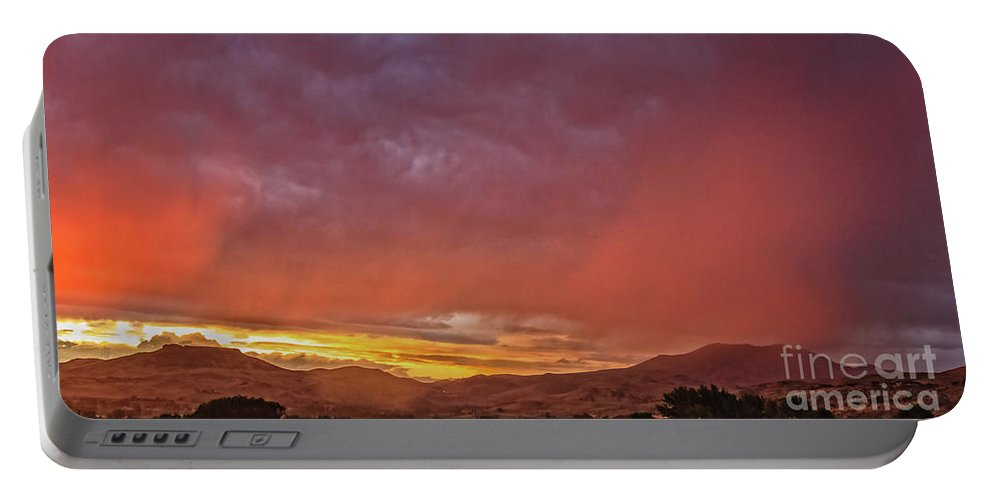 Gem County Portable Battery Charger featuring the photograph The Buttes by Robert Bales