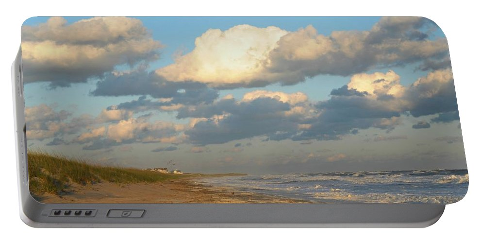 Dramatic Clouds Portable Battery Charger featuring the photograph The Calm After by Diana Angstadt
