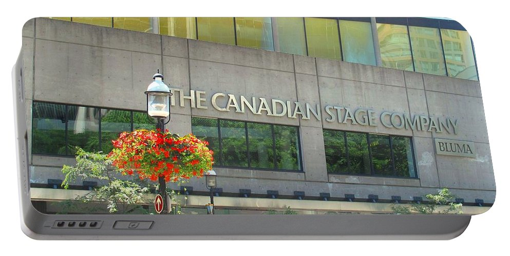Canada Portable Battery Charger featuring the photograph The Canadian Stage Company by Ian MacDonald