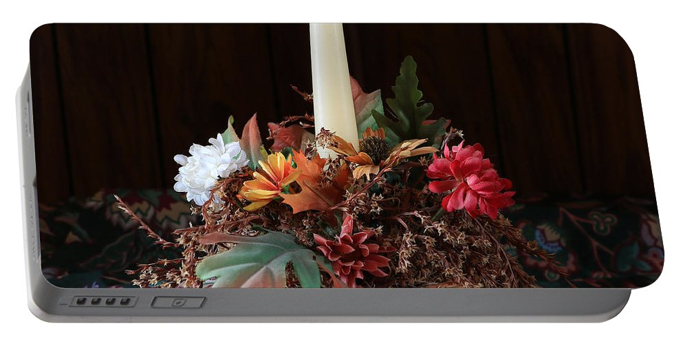 Still Life Portable Battery Charger featuring the photograph The Centerpiece by Rick Morgan