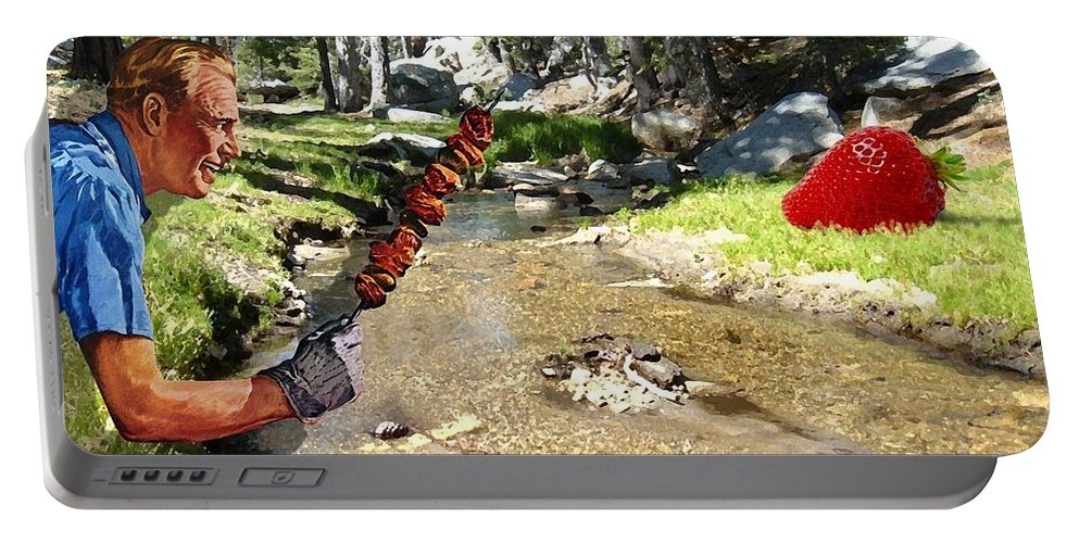 Digital Art Portable Battery Charger featuring the photograph The Challenge by Snake Jagger
