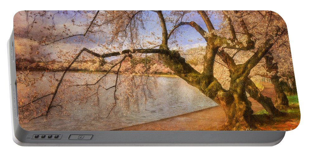 Trees Portable Battery Charger featuring the photograph The Cherry Blossom Festival by Lois Bryan