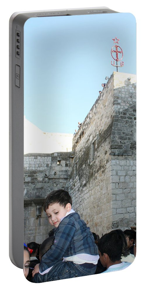 Child Portable Battery Charger featuring the photograph The Child Of Bethlehem 2010 by Munir Alawi