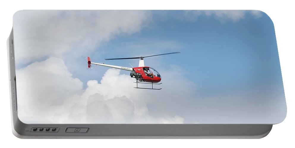 Helocopter Portable Battery Charger featuring the photograph The Chopper by Rob Hans