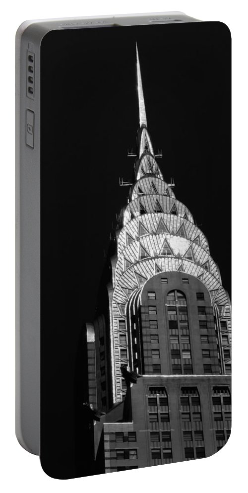 Chrysler Building Portable Battery Charger featuring the photograph The Chrysler Building by Vivienne Gucwa