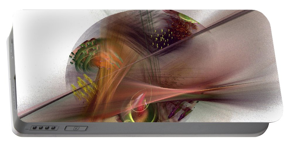 Abstract Portable Battery Charger featuring the digital art The Circle Sea by NirvanaBlues