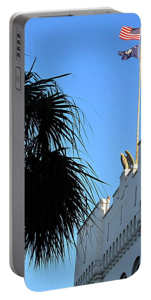 Photography Portable Battery Charger featuring the photograph The Citadel In Charleston by Susanne Van Hulst