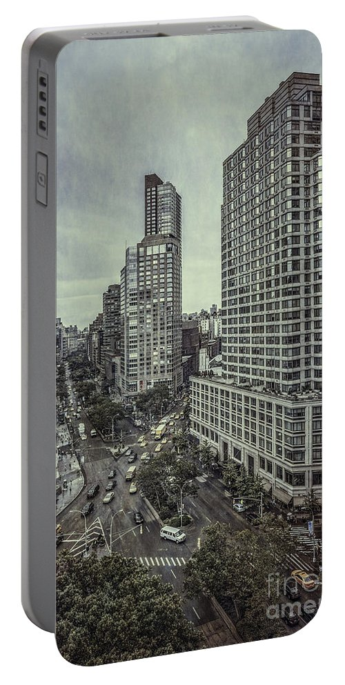 Kremsdorf Portable Battery Charger featuring the photograph The City Shuffle by Evelina Kremsdorf