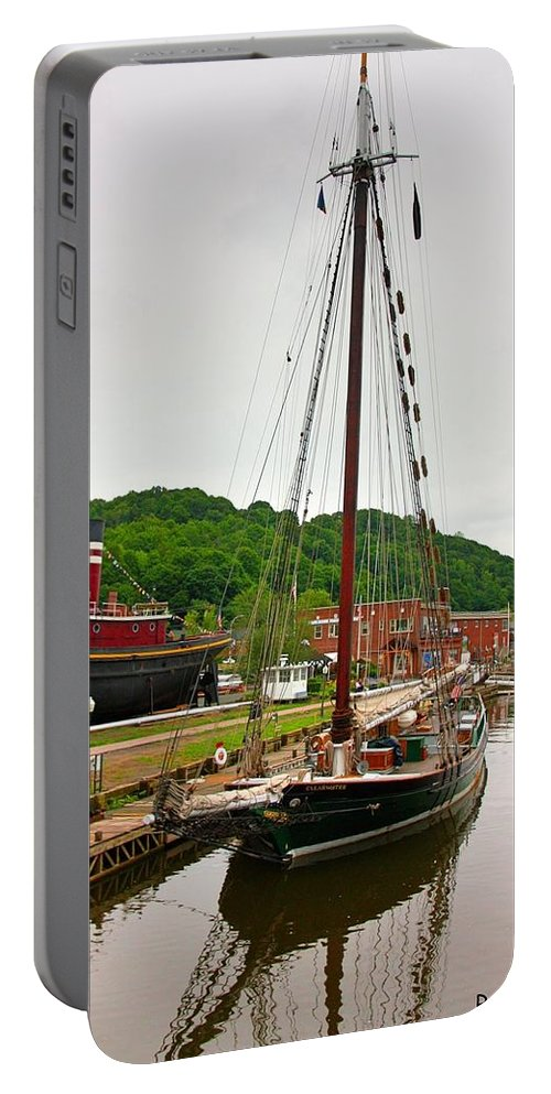 Sailboat Portable Battery Charger featuring the photograph The Clearwater by Ruth Silvers
