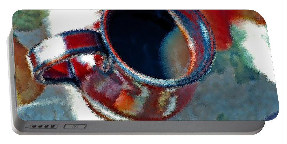 Coffee Portable Battery Charger featuring the digital art The Color Of Coffee by Robert Meanor