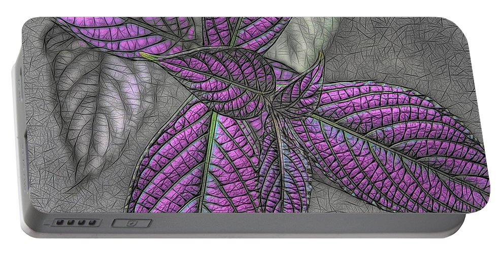 Digital Design Portable Battery Charger featuring the digital art The Color Purple by Heidi Fickinger