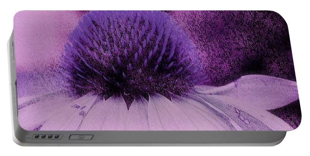 The Color Purple Portable Battery Charger featuring the photograph The Color Purple by Linda Sannuti