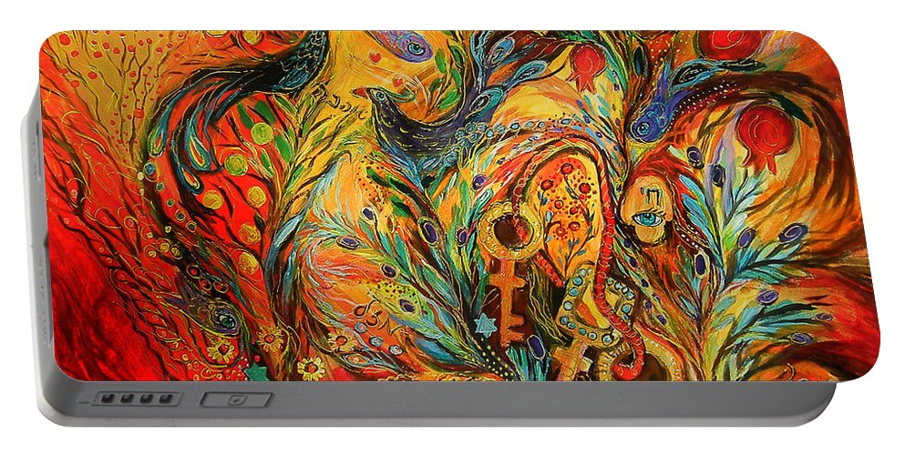 Original Portable Battery Charger featuring the painting The Colors Of Sunrise by Elena Kotliarker