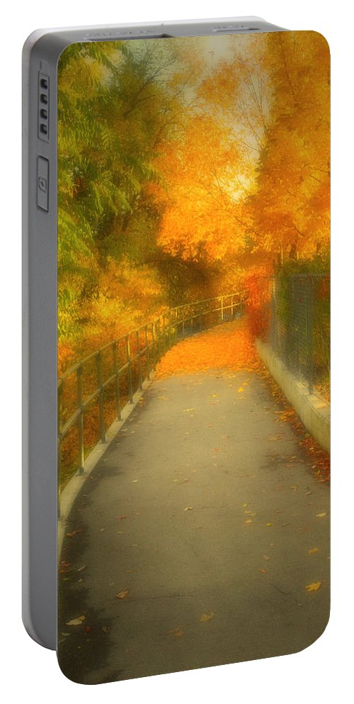 Colour Portable Battery Charger featuring the photograph The Colour Around The Corner by Tara Turner