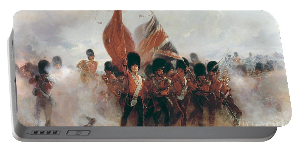 War Portable Battery Charger featuring the painting The Colours by Elizabeth Southerden Thompson