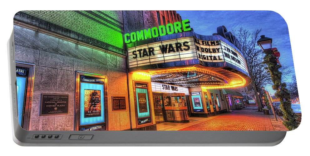Theatre Portable Battery Charger featuring the photograph The Commodore Theatre, Portsmouth, Va by Greg Hager