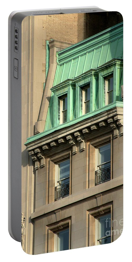 Apartments Portable Battery Charger featuring the photograph The Copper Attic by RC DeWinter