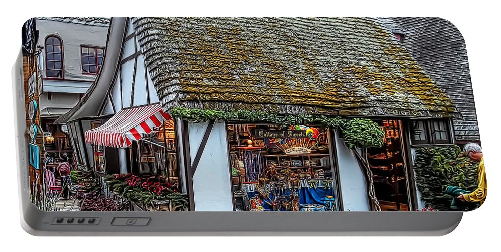 Cottage Portable Battery Charger featuring the photograph The Cottage Of Sweets - Carmel by Glenn McCarthy