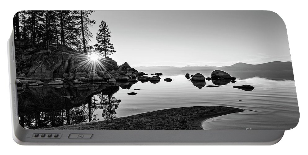 Sand Harbor Portable Battery Charger featuring the photograph The Cove by Jamie Pham