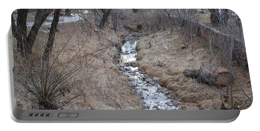 Water Portable Battery Charger featuring the photograph The Creek by Rob Hans