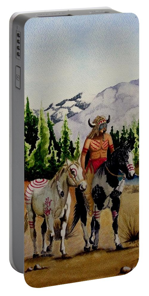 American Portable Battery Charger featuring the painting The Crossing by Jimmy Smith