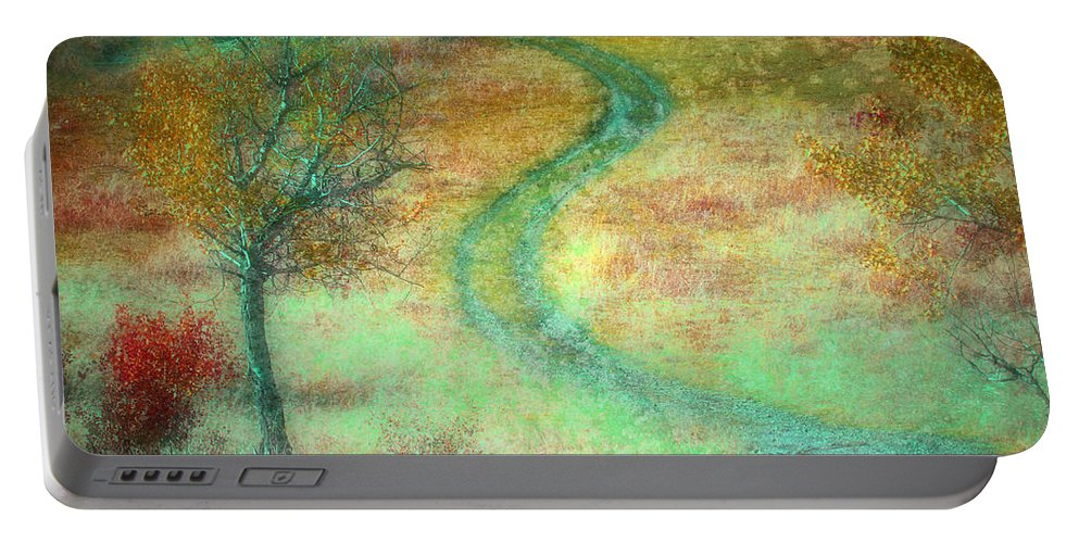 Road Portable Battery Charger featuring the photograph The Curve In The Road by Tara Turner