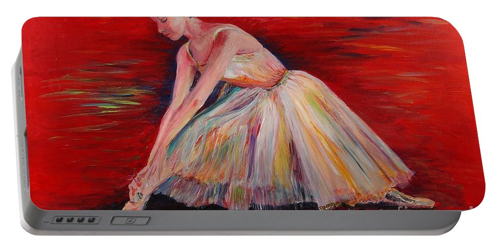 Dancer Portable Battery Charger featuring the painting The Dancer by Nadine Rippelmeyer