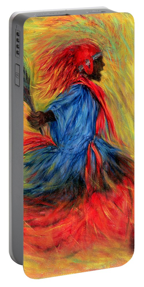 Dancer Portable Battery Charger featuring the painting The Dancer by Tilly Willis
