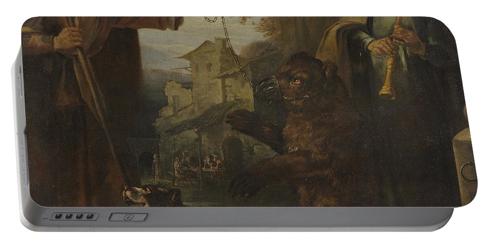 Giacomo Francesco Cipper Portable Battery Charger featuring the painting The Dancing Bear by Giacomo Francesco