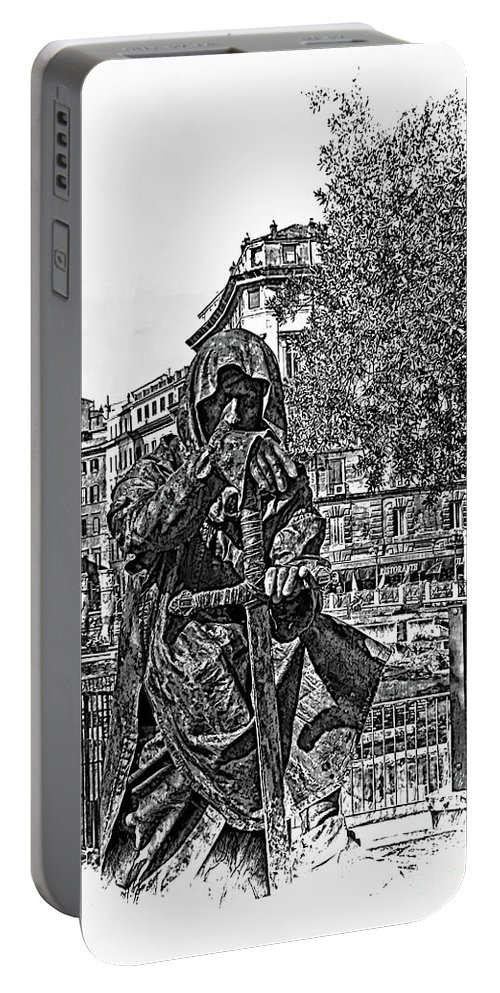 Dark Portable Battery Charger featuring the photograph The Dark Knight II by Al Bourassa