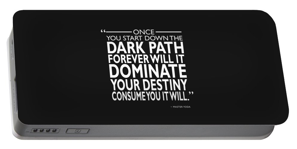 Star Wars Portable Battery Charger featuring the photograph The Dark Path by Mark Rogan