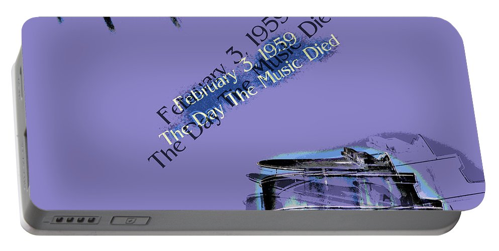 Day Portable Battery Charger featuring the photograph The Day The Music Died - Feb 3 1959 by Al Bourassa