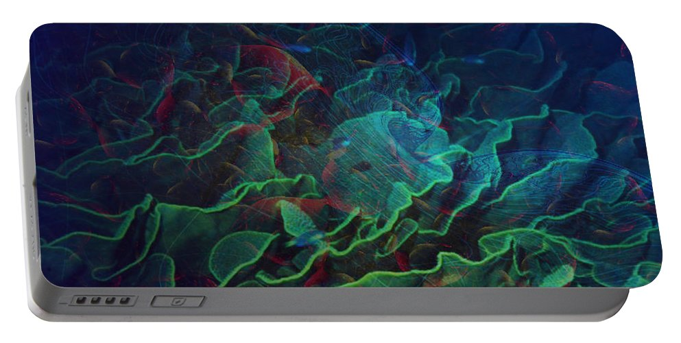 Ocean Portable Battery Charger featuring the digital art The Deep by Barbara Berney
