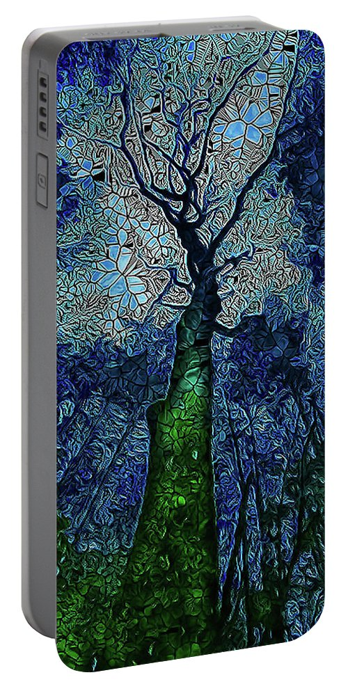 Tree Portable Battery Charger featuring the photograph The Deep Wood by Paula OMalley