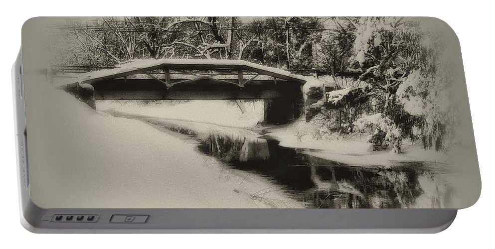 Delaware Canal Portable Battery Charger featuring the photograph The Delaware Canal At Washingtons Crossing by Bill Cannon
