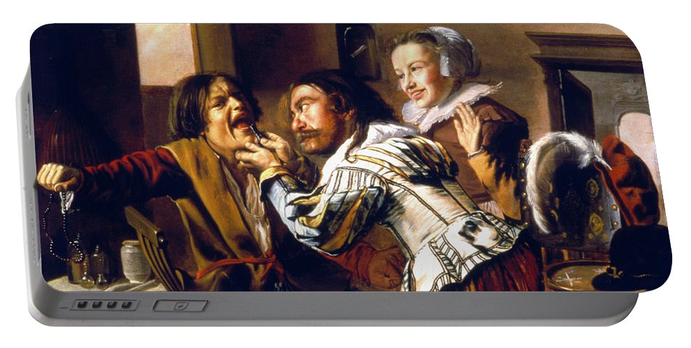 1629 Portable Battery Charger featuring the photograph The Dentist, 1629 by Granger