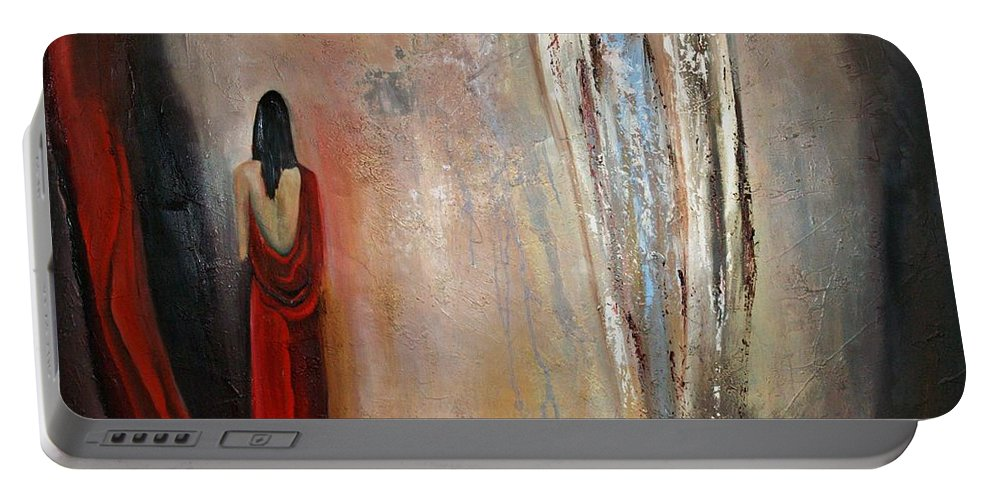 Angels Portable Battery Charger featuring the painting The Devine Messenger by Niki Sands