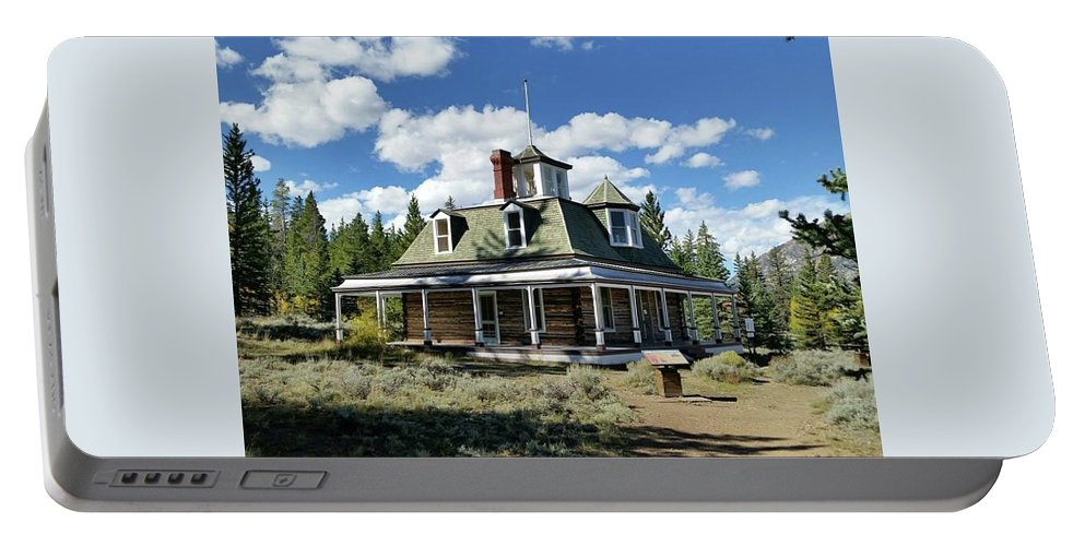 Architecture Portable Battery Charger featuring the photograph The Dexter Cabin by Dennis Boyd