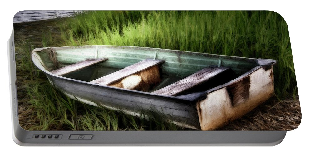 Dinghy Portable Battery Charger featuring the photograph The Dinghy by Marie Altenburg
