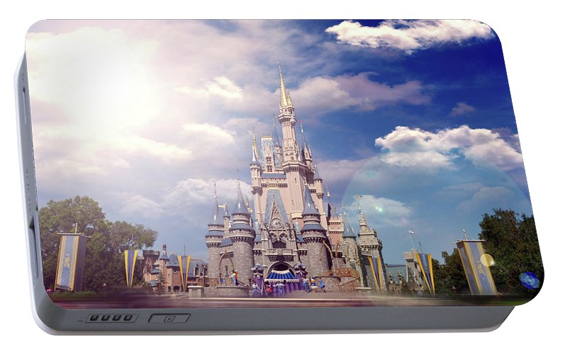 Disney Portable Battery Charger featuring the photograph The Disney Rush by Ryan Crane