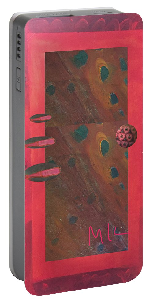 Decor Portable Battery Charger featuring the digital art The Door by Mary Jo Hopton