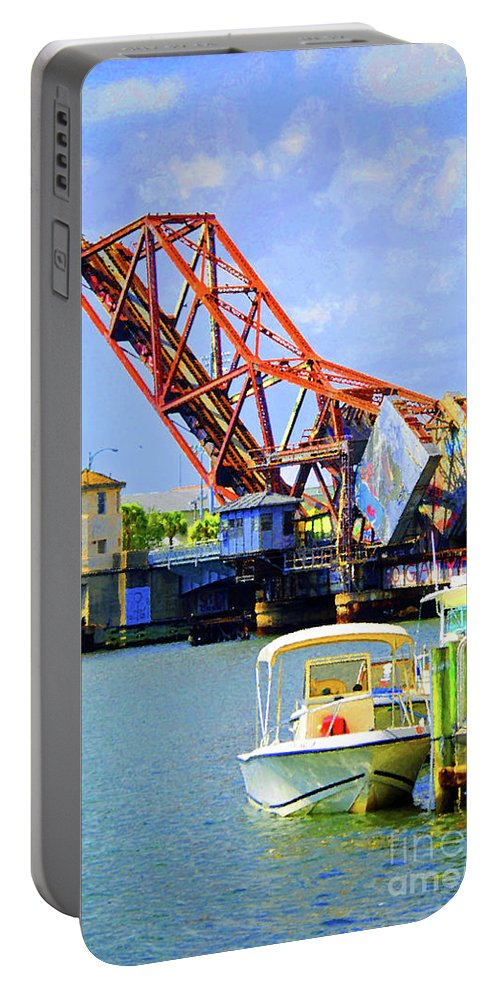 Tampa Portable Battery Charger featuring the photograph The Drawbridge by Jost Houk