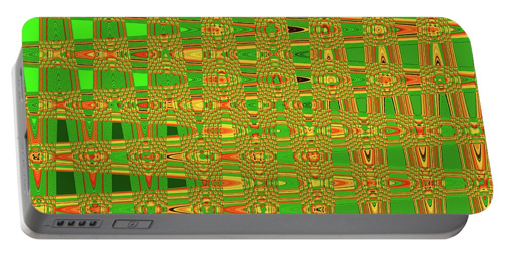 The Dreaded Bull Head Sticker Yellow Flower Abstract.southwest Portable Battery Charger featuring the photograph The Dreaded Bull Head Sticker Yellow Flower Abstract by Tom Janca